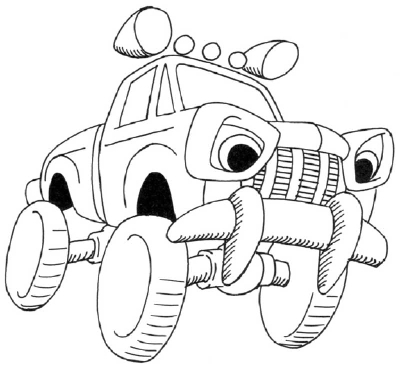400x367 How To Draw A Cartoon Monster Truck In 5 Steps Cartoon Monsters