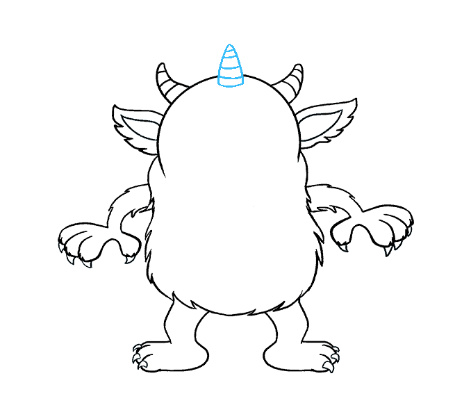 678x600 How To Draw A Cartoon Monster In A Few Easy Steps Easy Drawing