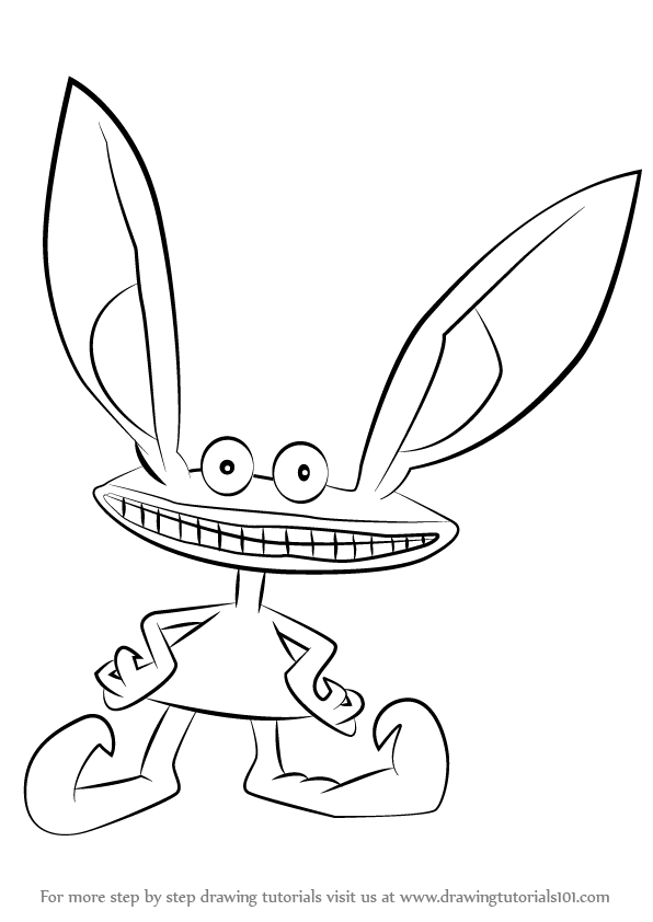596x842 Learn How To Draw Ickis From Aaahh!!! Real Monsters (Aaahh!!! Real