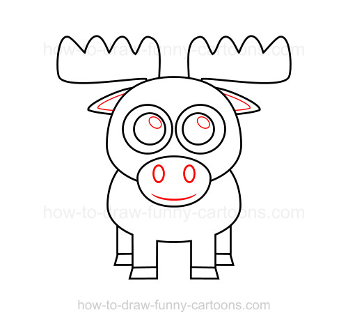 Cartoon moose drawing at getdrawings free for personal use 500x468 to draw a moose thecheapjerseys Images