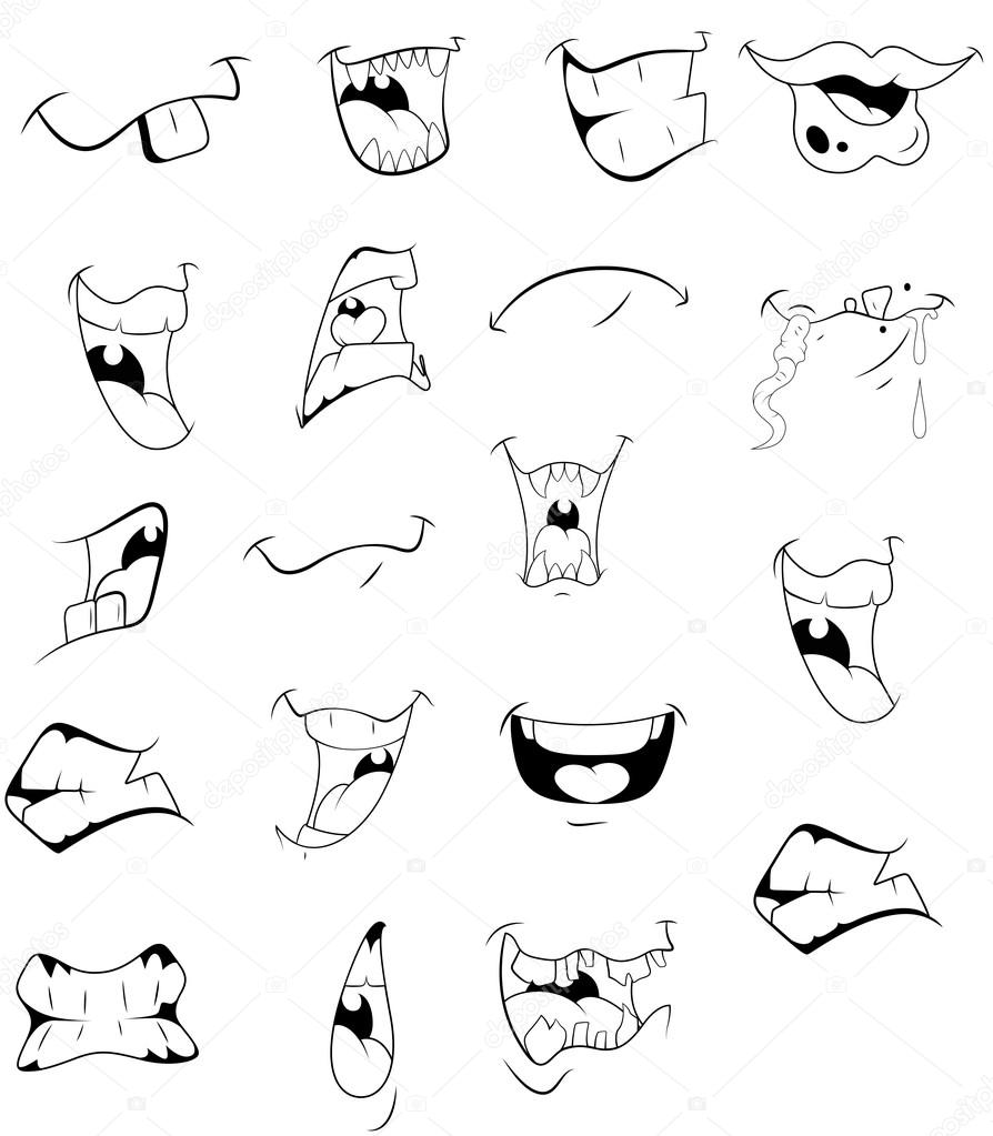 894x1023 Cartoon Mouths Vectors Stock Vector Baavli