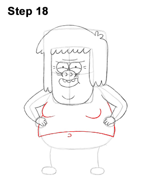 300x388 How To Draw Muscle Man (Regular Show)
