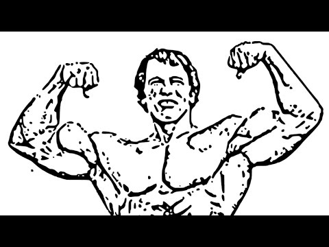 480x360 How To Draw Arnold Schwarzenegger Face Drawing Step By Step