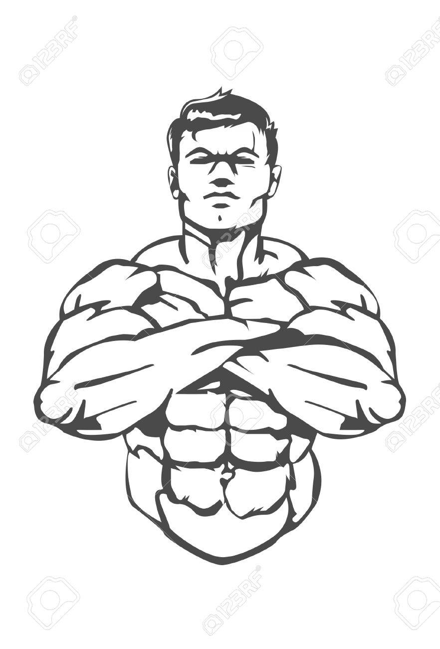 882x1300 Muscle Man This Is A Great Icon For A Boxing Gym Which Specialize