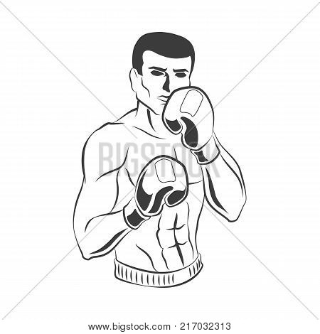 450x470 Vector Cartoon Muscular Strong Vector Amp Photo Bigstock