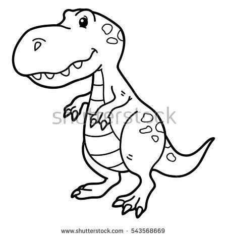 450x470 Drawn Dinosaur Cartoon