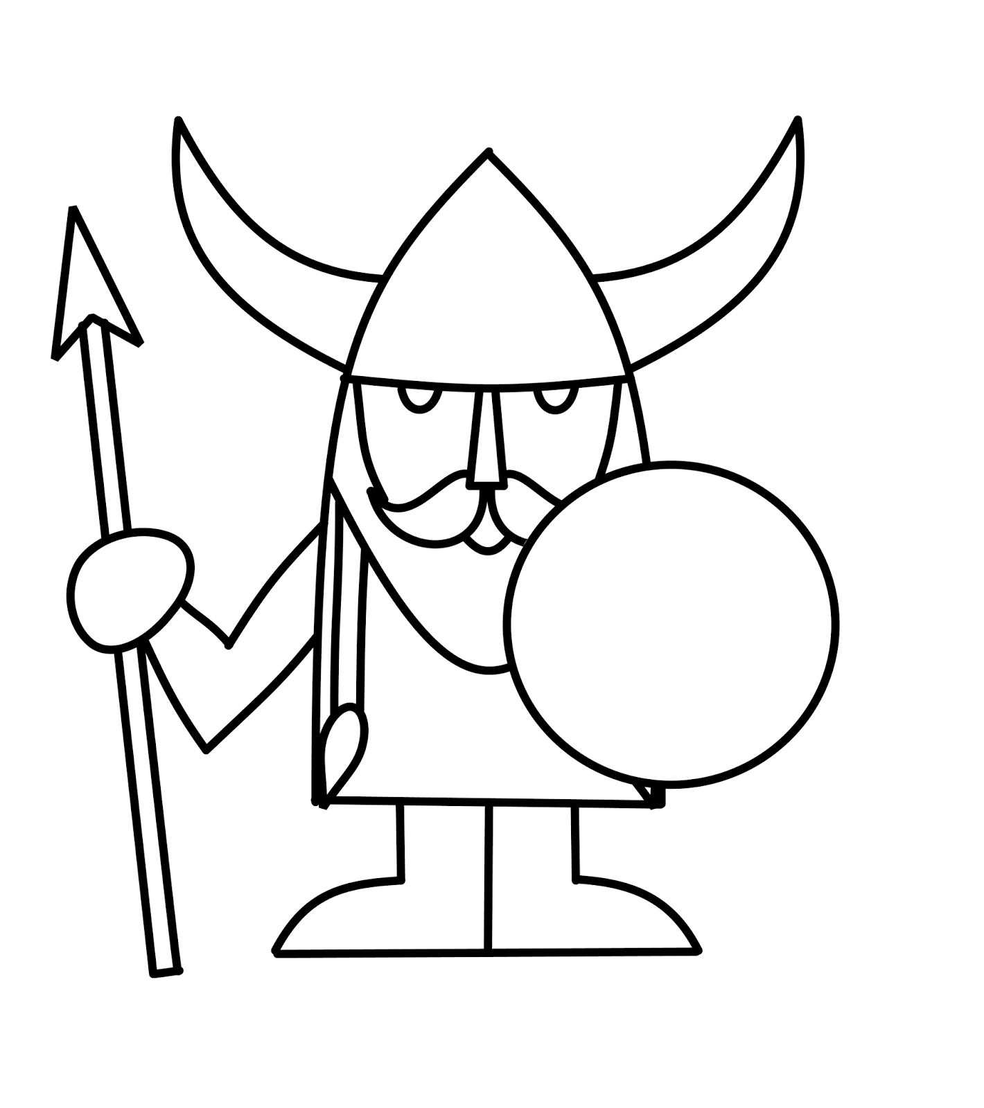 1420x1600 How To Draw Cartoons Viking
