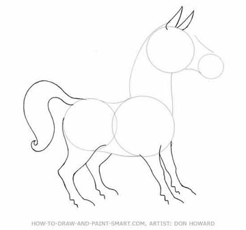 360x337 How To Draw A Cartoon Horse