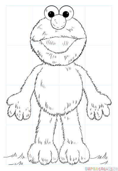 399x575 How To Draw Elmo Step By Step Drawing Tutorials
