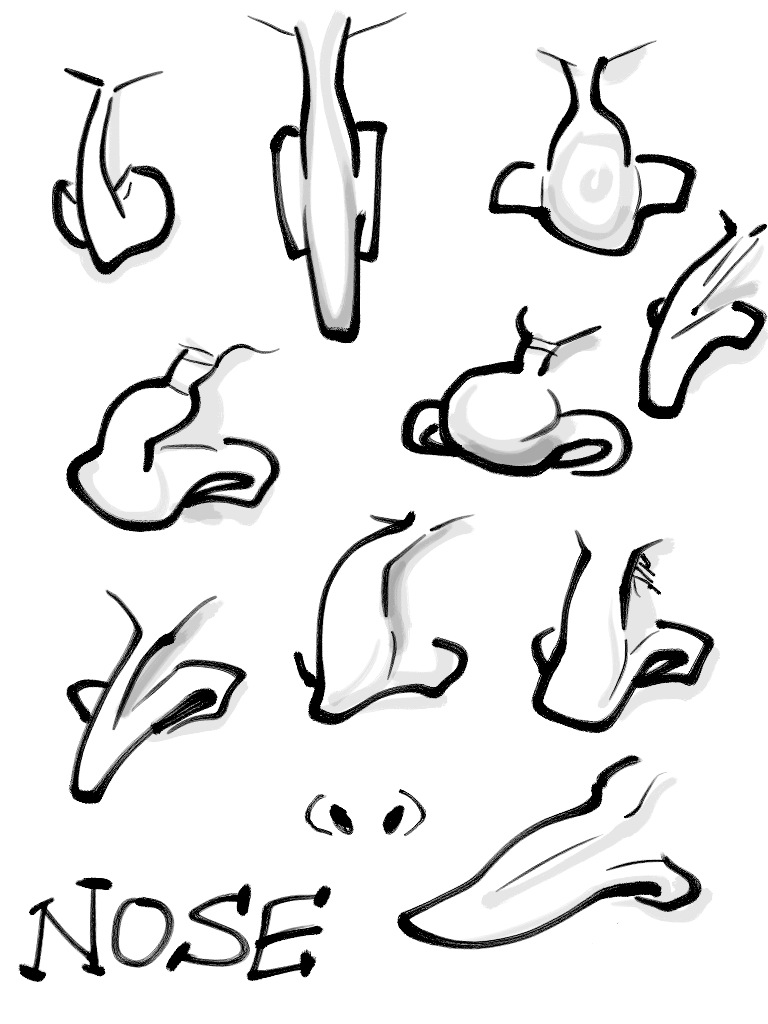 768x1024 Cartoon Caricatures Few Examples Of Drawing The Nose. Drawing