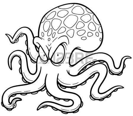 450x394 Cartoon Octopus Stock Photos. Royalty Free Business Images