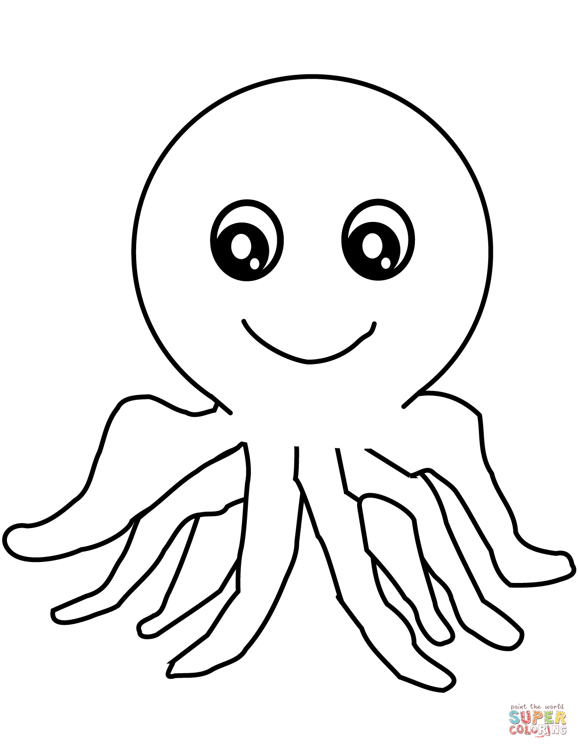 1159x1500 Cartoon Octopus Coloring Page Free Printable Coloring Pages