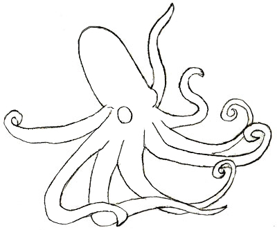 400x332 How To Draw An Octopus