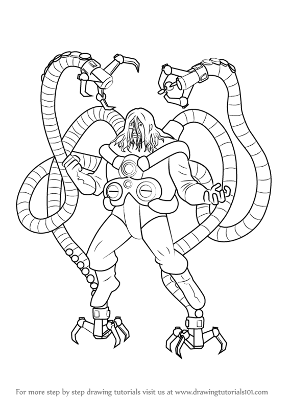 566x800 Learn How To Draw Doctor Octopus From Ultimate Spider Man