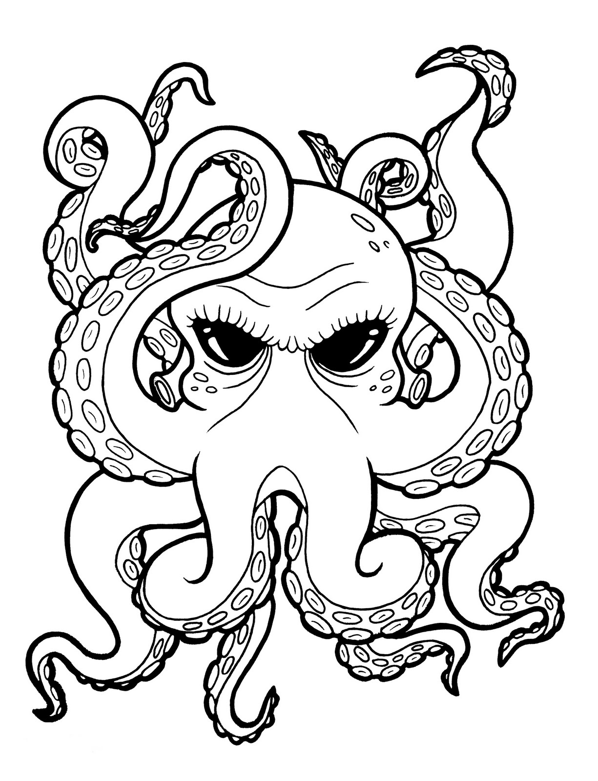 1225x1600 Cartoon Octopus Drawing Tattoos Tattoo, Drawings