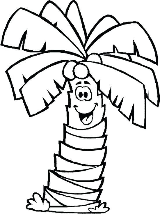 550x735 Palm Tree Coloring Pages Date Palm Tree Coloring Pages Line