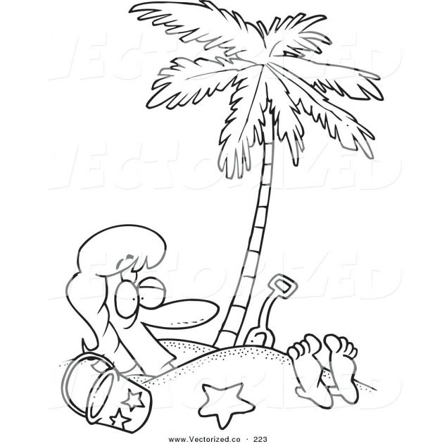 618x630 Click The Red Pine Tree Coloring Pages Coconut Palm Page Sabal