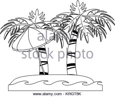 379x320 Vector Cartoon Of Palm Tree On A Small Island For Travel