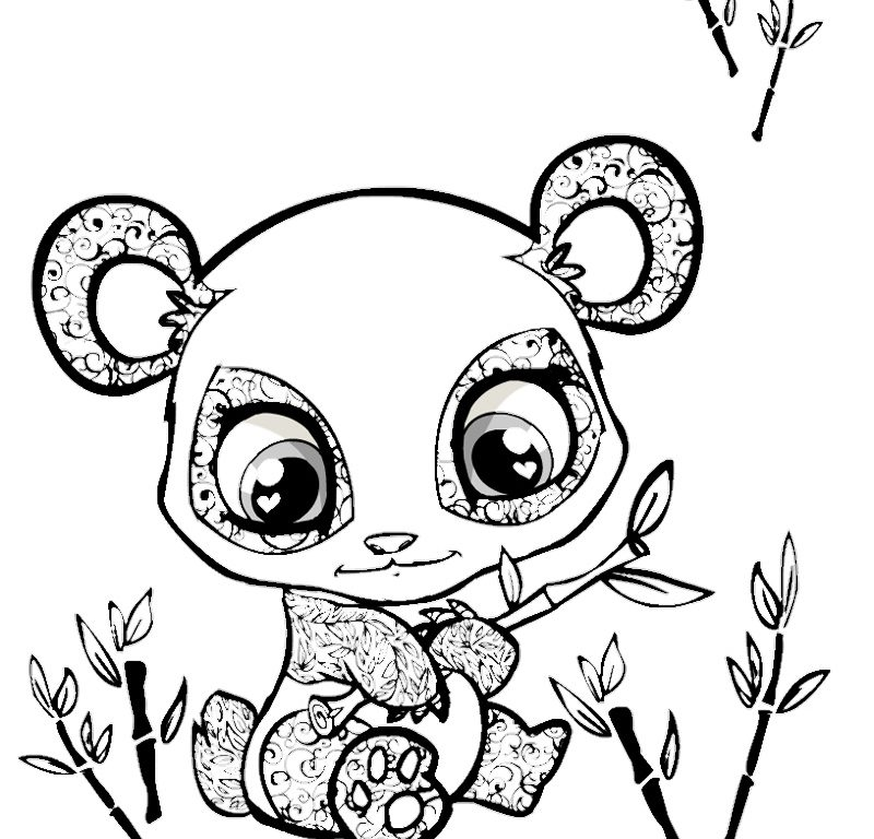 800x768 Download Cartoon Panda Coloring Pages