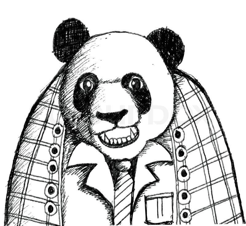 800x737 Panda Cartoon Character Stock Vector Colourbox
