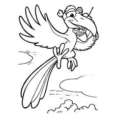Cartoon Parrot Drawing