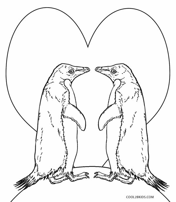 600x689 Printable Penguin Coloring Pages For Kids Cool2bkids