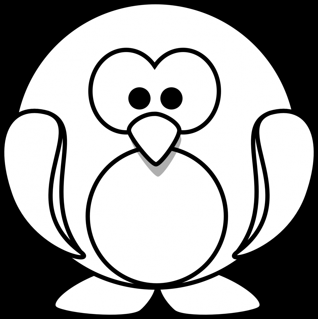 1021x1024 Cartoon Penguin Drawing Cartoon Penguin Images Clipartsco