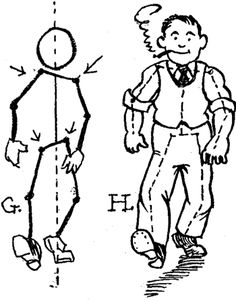 236x302 How To Draw Cartoon People Figures Moving In Different Movements