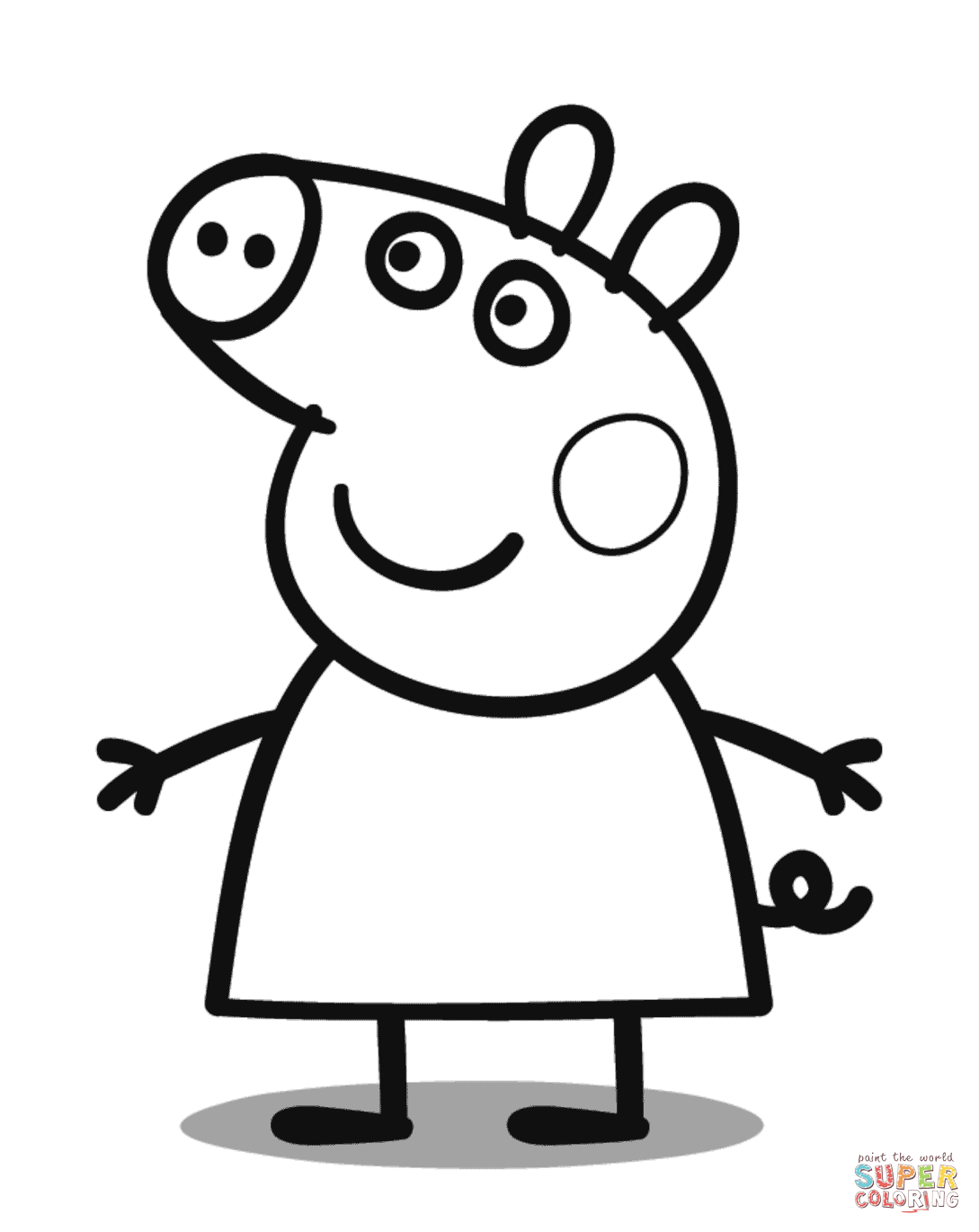 1089x1370 Peppa Pig Coloring Page Free Printable Coloring Pages