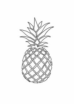 Cartoon Pineapple Drawing