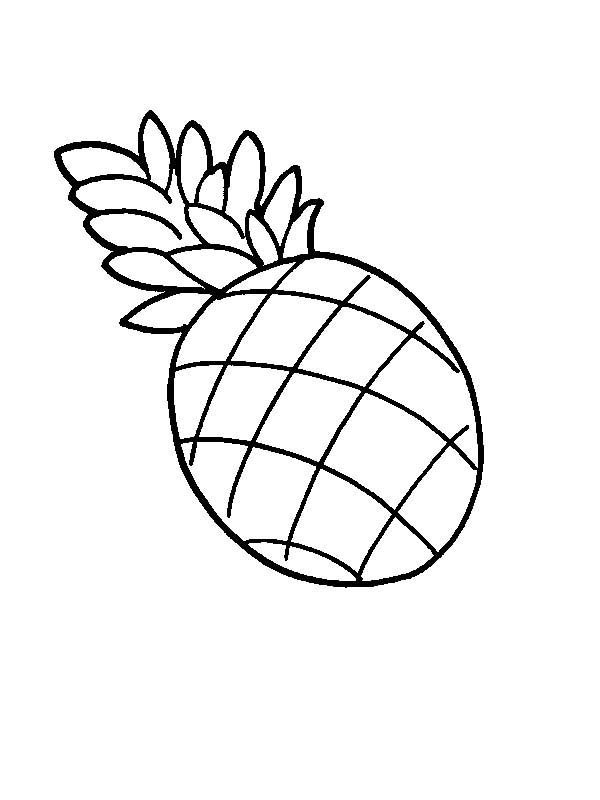 600x800 A Drawing Of Pernambuco Pineapple Coloring Page