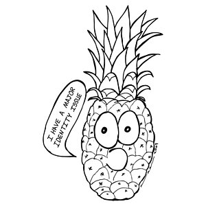 300x300 Pineapple Issue Drawing By Karl Addison