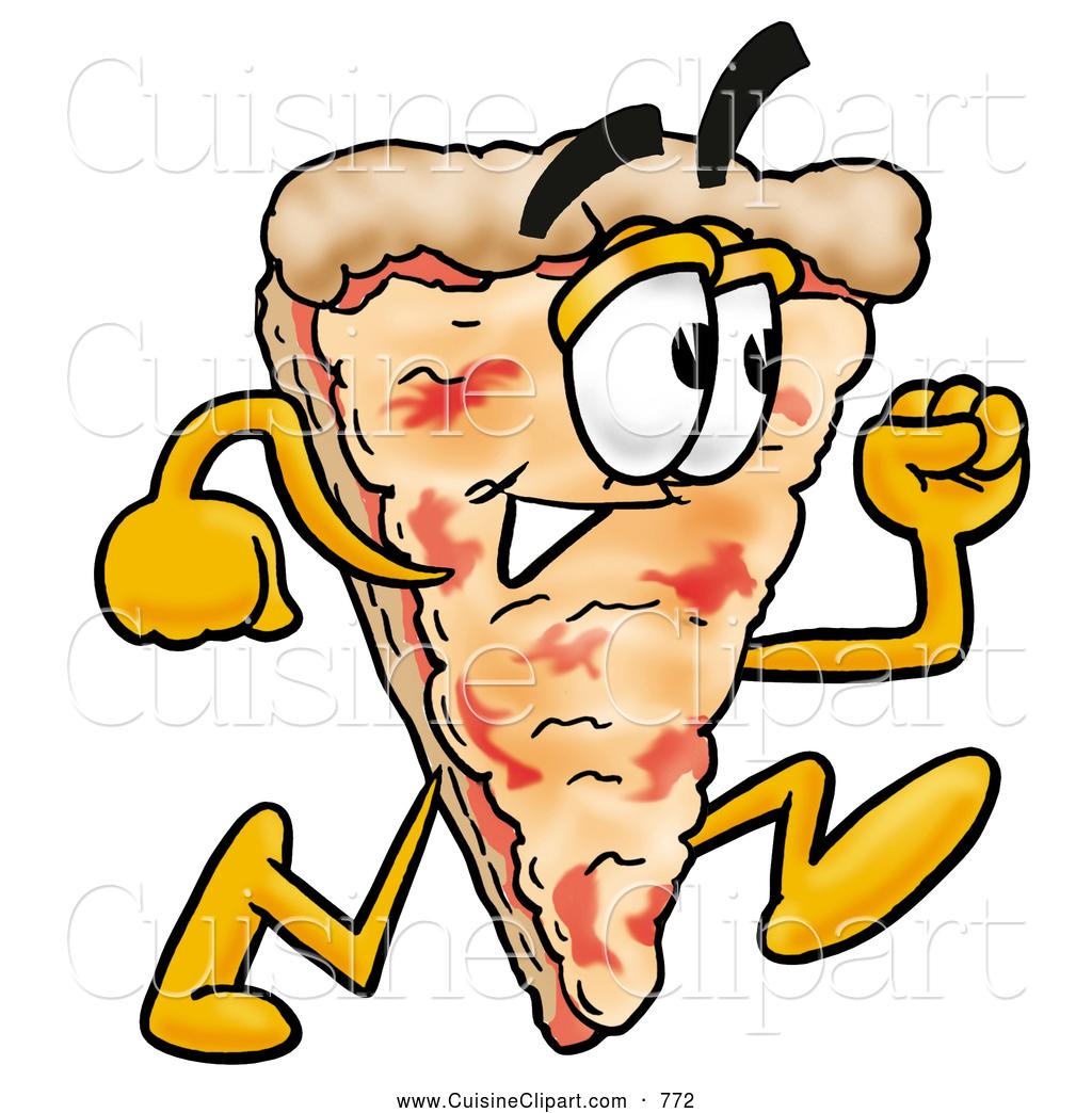 1024x1044 Cuisine Clipart Of A Happy Slice Of Pizza Mascot Cartoon Character