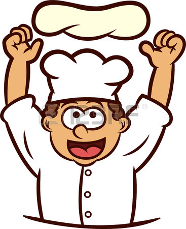 367x450 Pizza Chef Tossing Dough Into The Air Cartoon Illustration Royalty