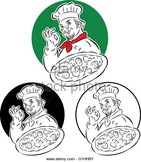 469x540 Cartoon Pizza Chef Holding Pizza Stock Photos Amp Cartoon Pizza Chef