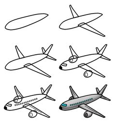 Cartoon Plane Drawing