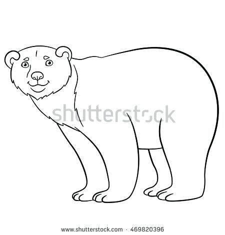 450x470 Coloring Pages Of Polar Bears Endangered Animals Coloring Pages