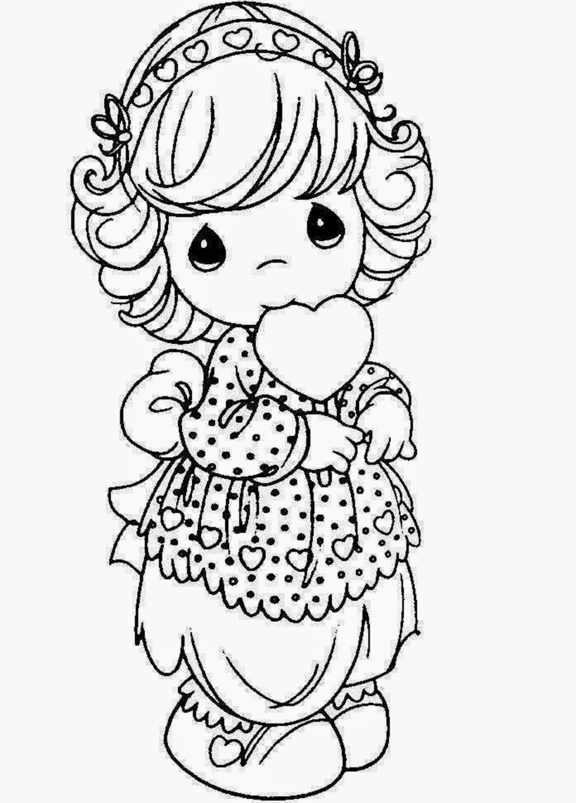 1149x1600 Colours Drawing Wallpaper Beautiful Princess Doll Coloring Page