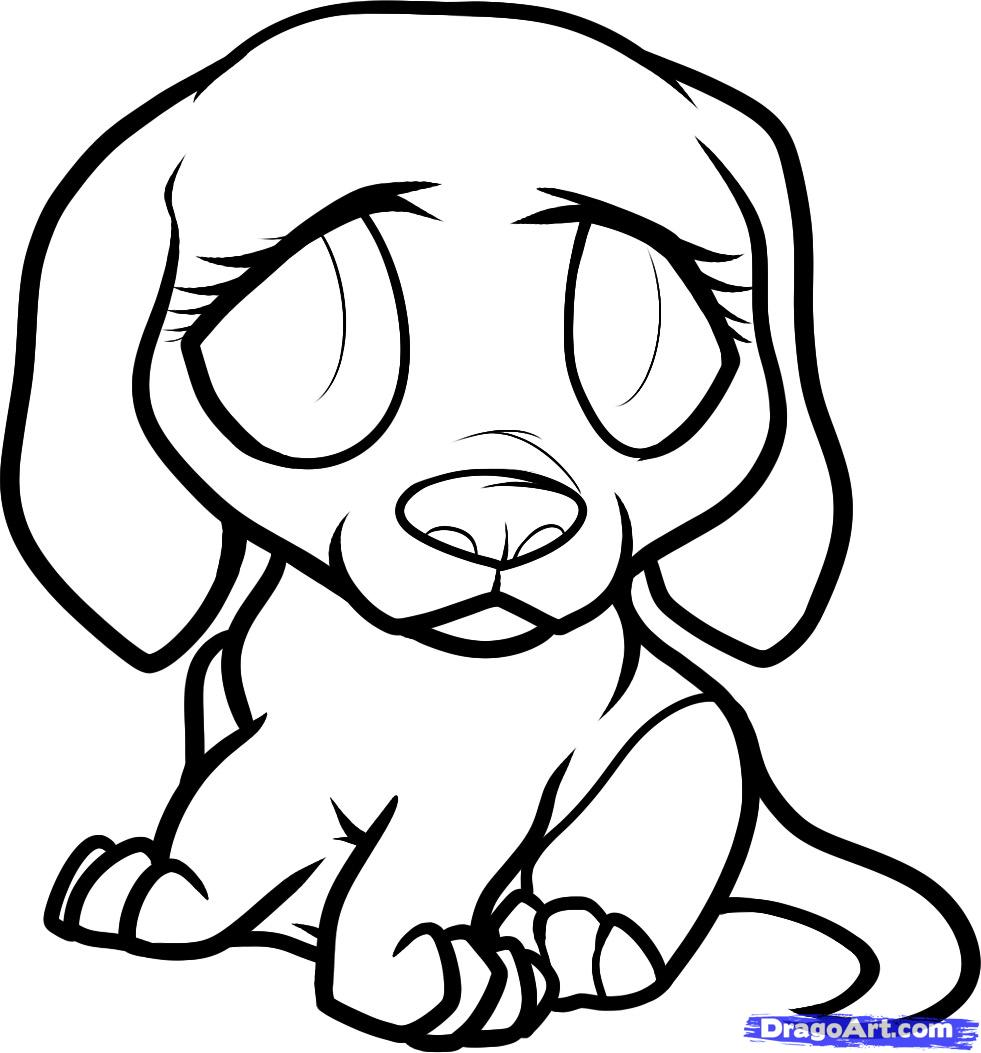 Cartoon Puppy Drawing at GetDrawings.com | Free for personal use ...
