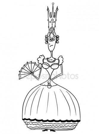 333x450 Cartoon Vector Medieval Fantasy Queen Stock Vector Ursus