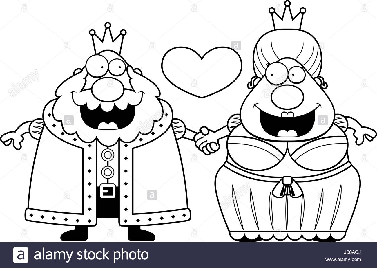 1300x926 A Cartoon Illustration Of A King And Queen Holding Hands And