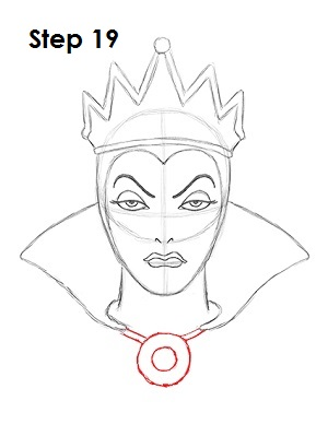 300x388 How To Draw Evil Queen 19 Drawing Tutorial Evil