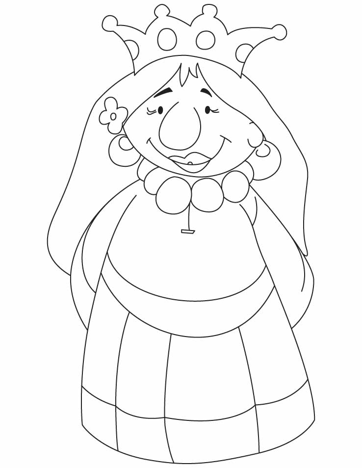 738x954 A Cartoon Queen Coloring Pages Download Free A Cartoon Queen