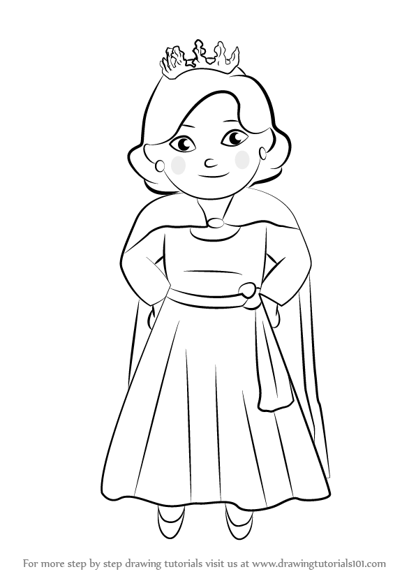 596x842 Learn How To Draw Queen Saturday From Daniel Tiger's Neighborhood