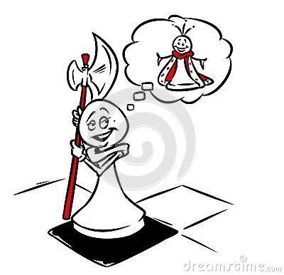400x386 Pawn Soldier Dream Success Chess Queen Cartoon Doodle Contour