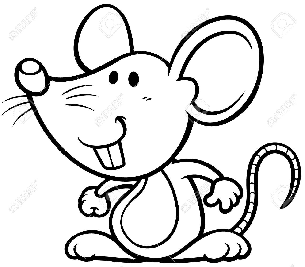 Cartoon rat drawing at free for personal for Rat coloring pages