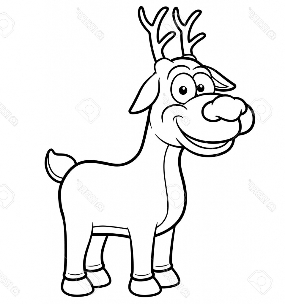 Cartoon Reindeer Drawing
