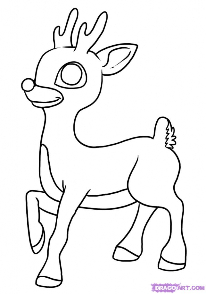 718x1024 How To Draw A Reindeer Cartoon Tags How To Draw A Raindeer How
