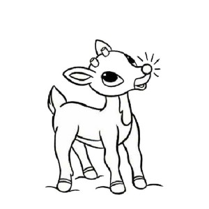 300x300 Cartoon Character Rudolph Drawing Merry Christmas Amp Happy New