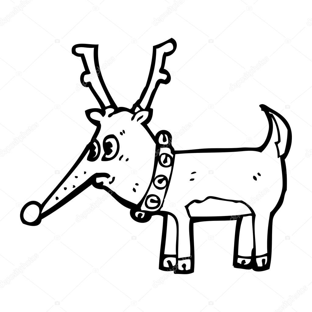 1024x1024 Ugly Christmas Reindeer Cartoon Stock Vector Lineartestpilot